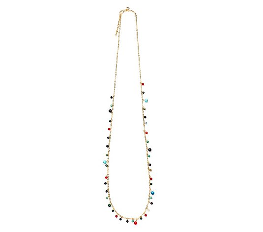 Lola Rose Auburn Semi Precious 86cm Necklace