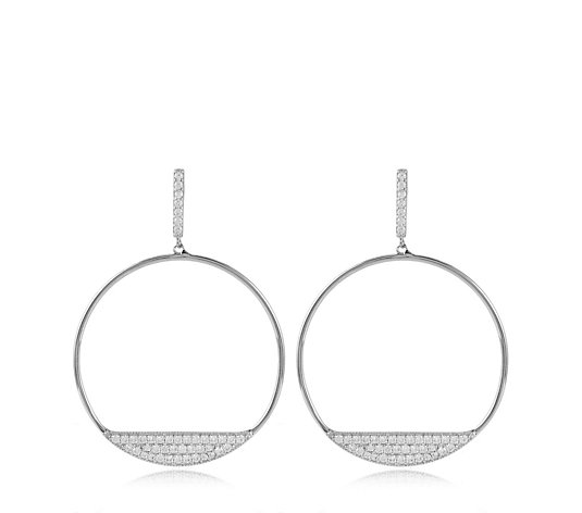Adorn by Diamonique 0.8ct tw Hoop Earrings Sterling Silver