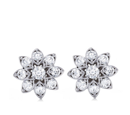 0.50ct Diamond Vintage Flower Estate Collection Stud Earrings 9ct Gold