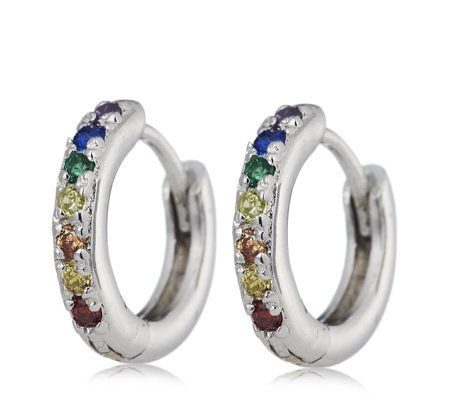 Scream Pretty Rainbow Huggie Earrings Sterling Silver