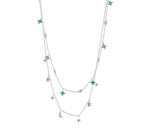 Ophia Star Burst Layer 49cm Necklace Sterling Silver