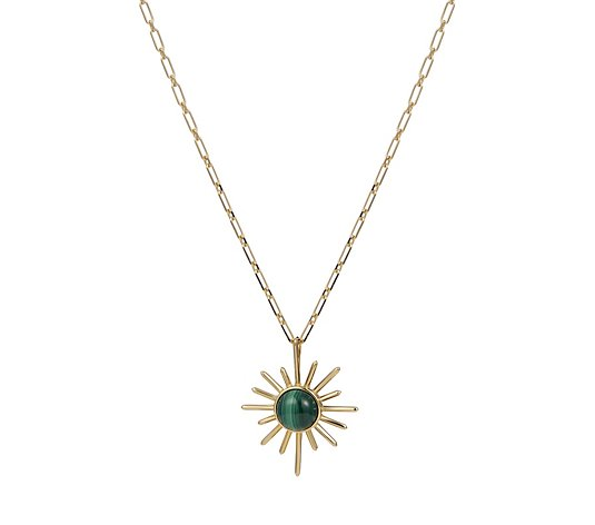 Lola Rose Curio Sunburst Semi Precious Stud 45cm Necklace