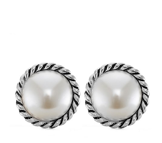 Frank Usher Rope and Sim Pearl Clip On Earrings