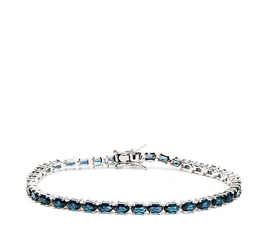 8.50-10.90ct Choice of Created Gemstone 19cm Bracelet Sterling Silver