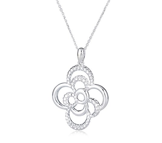 Links of London Linked Flowers 45cm Necklace Sterling Silver