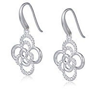 Links of London Linked Flowers Drop Earrings Sterling Silver - 319973
