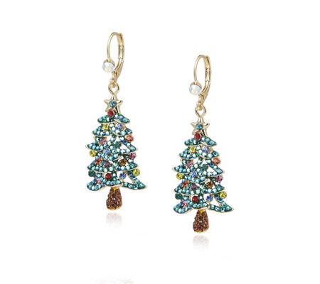 Butler & Wilson Crystal Christmas Tree Earrings