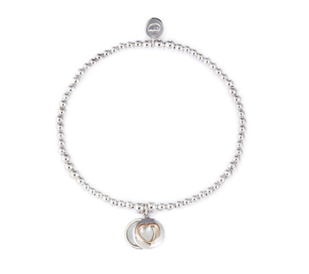 Clogau 9ct Rose Gold & Sterling Silver Cariad Bracelet with MOP