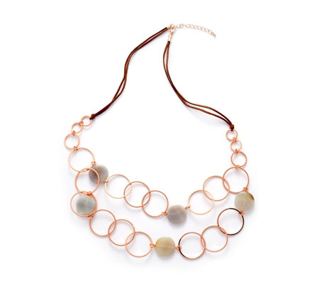 Frank Usher Resin Circles 102cm Necklace