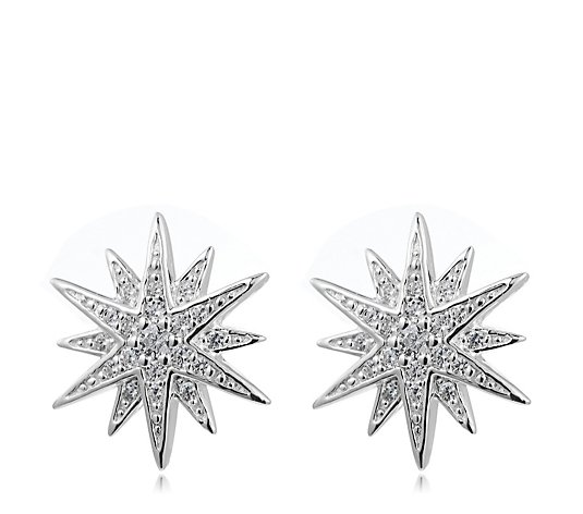 Escape by Melissa Odabash Starburst Stud Earrings Sterling Silver