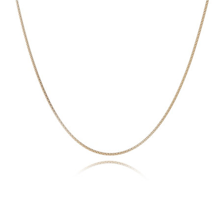 9ct Gold Polished Popcorn 45cm Chain