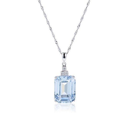 Michelle Mone for Diamonique 15.6ct tw Pendant & Chain Sterling Silver