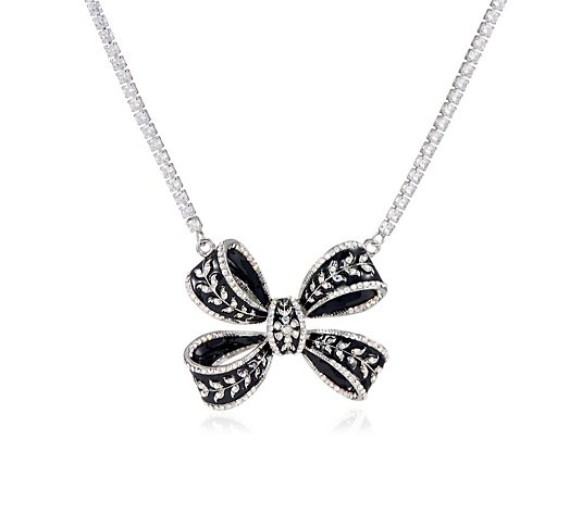 Butler & Wilson Crystal Bow Necklace