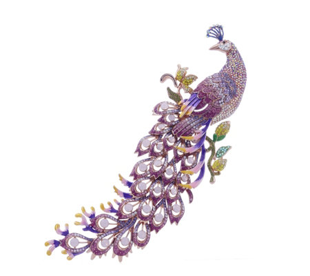 Butler & Wilson Statement Peacock Brooch