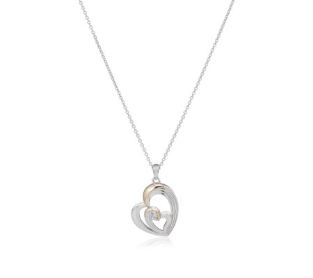 Clogau 9ct Rose Gold & Sterling Silver White Topaz 56cm Necklace