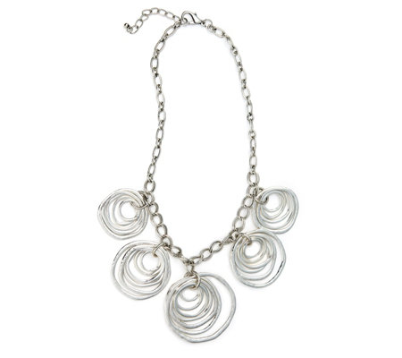 Frank Usher Multi Circles Chain 47cm Necklace