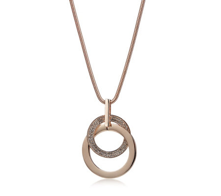 Frank Usher Crystal Circle 80cm Necklace
