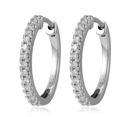 0 25ct Diamond Huggie Hoop Earrings 9ct Gold Qvc Uk