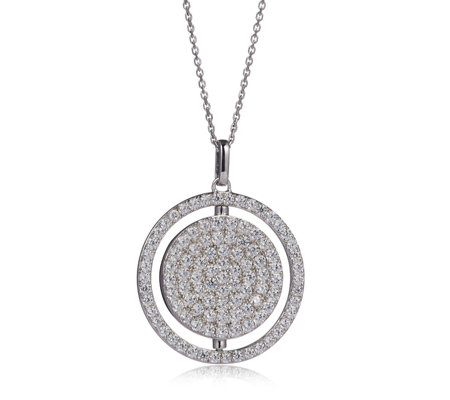 Alison Keenan for Diamonique 1.6ct tw Spinner Pendant & 49cm Chain