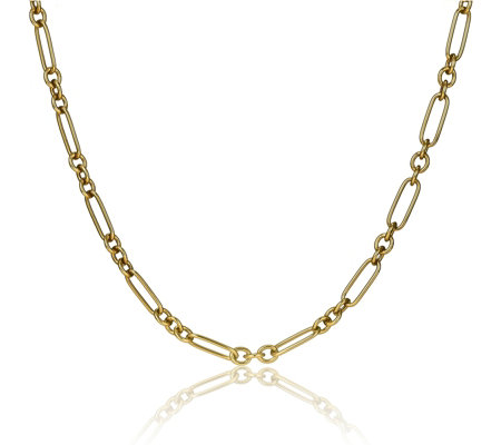 Bronzo Italia Multi Link Toggle Bar 70cm Necklace