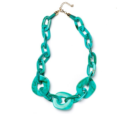 Frank Usher Resin Link Chain Necklace