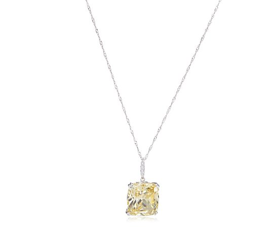 Michelle Mone for Diamonique 26ct tw Pendant & Chain Sterling Silver