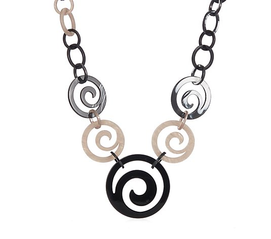 Frank Usher Spiral Resin Link Long Necklace