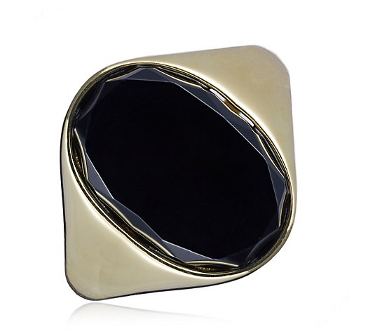 K by Kelly Hoppen Oval Gemstone Ring Sterling Silver