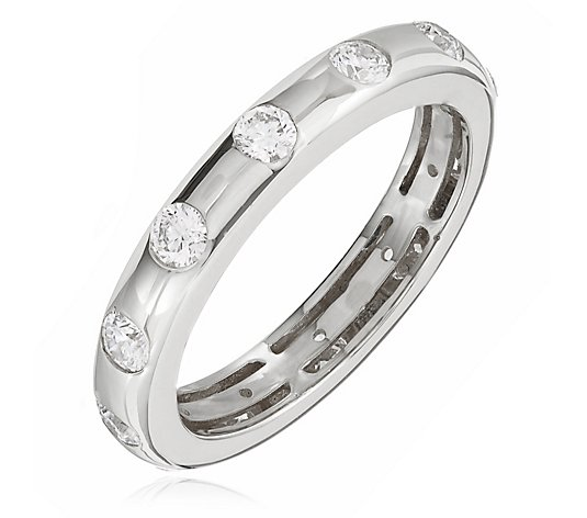1.00ct Diamond Flush Set Eternity Ring 18ct Gold