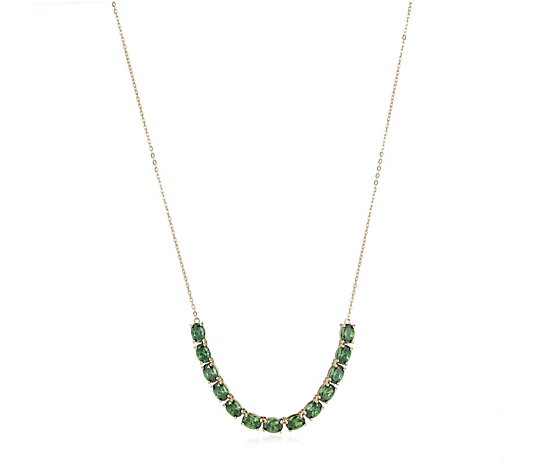 Diamonique 9.7ct tw Simulated Gemstone Necklace Sterling Silver