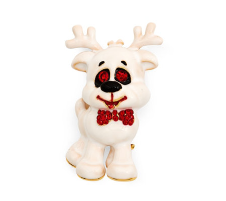 Butler & Wilson Happy Reindeer Brooch