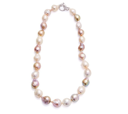 Honora 11-14mm Cultured Ming Pastel 45cm Necklace Sterling Silver