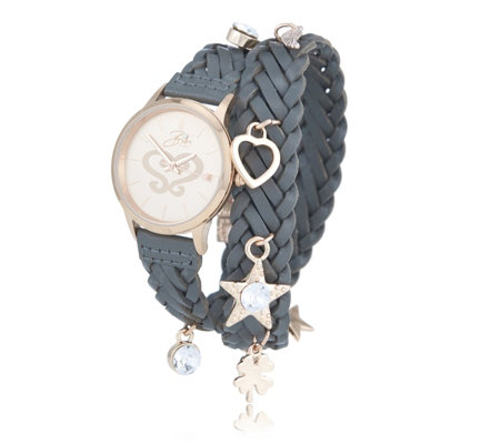 Bibi Bijoux Leather Wrap Watch