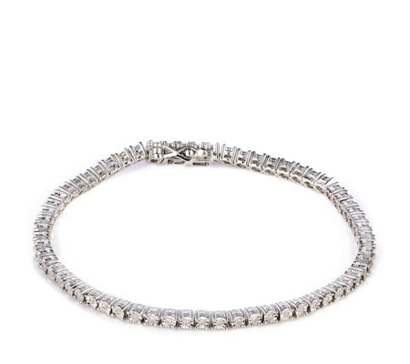 0.25ct Diamond Set Tennis Bracelet Sterling Silver