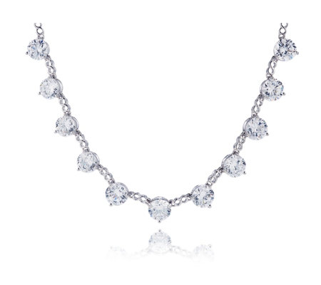 Michelle Mone for Diamonique 51.7ct tw Statement Necklace Sterling Silver