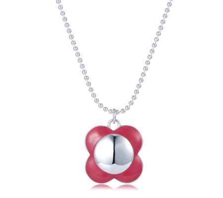 Orla Kiely Breast Cancer Care Poppy Pendant 45cm Necklace Qvc Uk