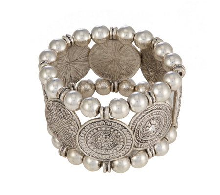 Bibi Bijoux Statement Coin Stretch Bracelet