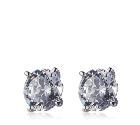 Michelle Mone for Diamonqiue 8ct tw 100 Facet Stud Earrings Sterling Silver