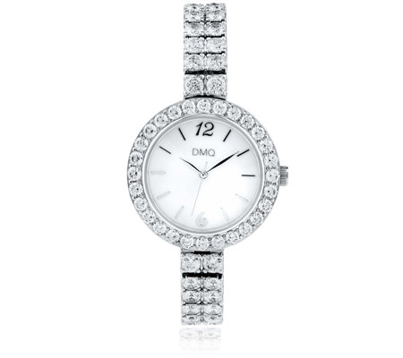 Diamonique 14.6ct tw Statement Dress Watch