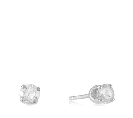 0.40ct Diamond Solitaire Stud Earrings 9ct Gold