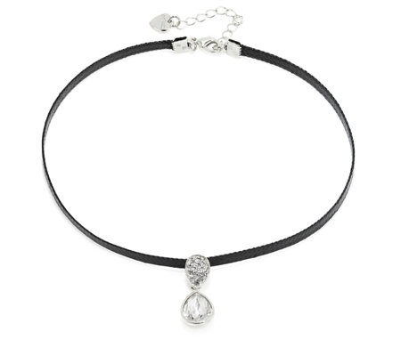 Loverocks Crystal Pear Drop Choker