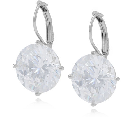 Michelle Mone for Diamonique 12ct tw Leverback Earrings Sterling Silver