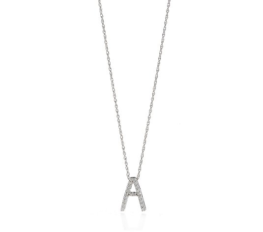 0.10ct Diamond Initial 45cm Necklace 9ct Gold