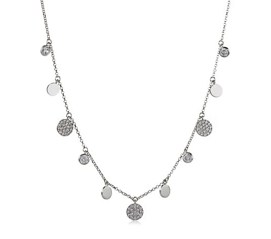Escape by Melissa Odabash 1.2ct tw Droplet Necklace Sterling Silver