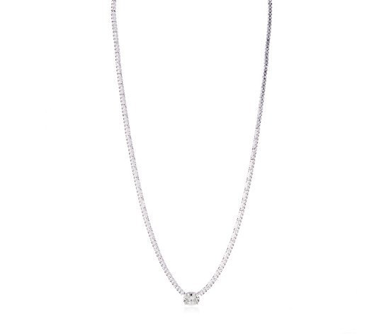 Michelle Mone for Diamonique 9.1ct tw Tennis Necklace Sterling Silver