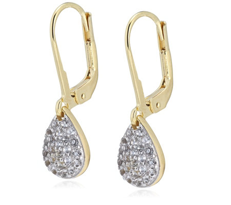 K by Kelly Hoppen Paris Collection White Topaz Drop Earrings Sterling Silver