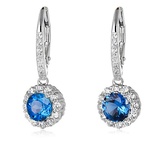 Diamonique 2.4ct tw Simulated Exotic Diamond Earrings Sterling Silver