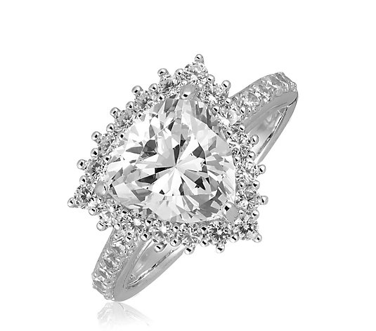 Michelle Mone for Diamonique 3ct tw Trillion Cut Ring Sterling Silver