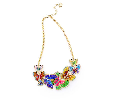 Butler & Wilson Rainbow Butterfly 40cm Necklace