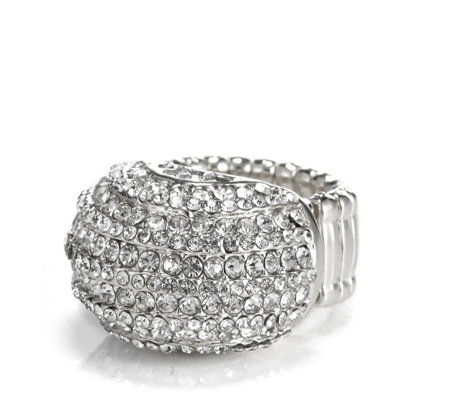 Loverocks Crystal Dome Stretch Ring